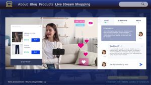 print screen from an embedded Live Stream Shopping session
