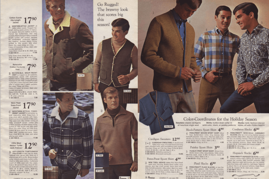 image showing 2 pages of the JC Penney Christmas Sales Catalog, 1966