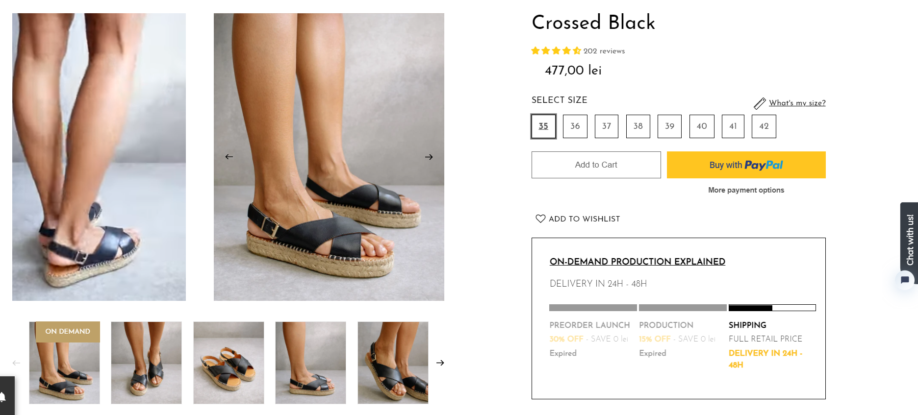 product page with clear call to action on ecommerce platform