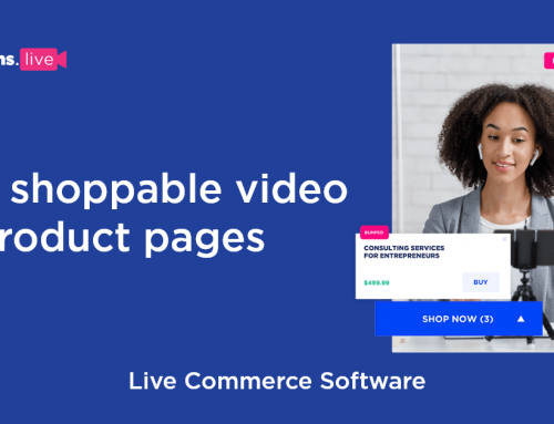 Conversion rates for eCommerce. Live shoppable video vs product pages